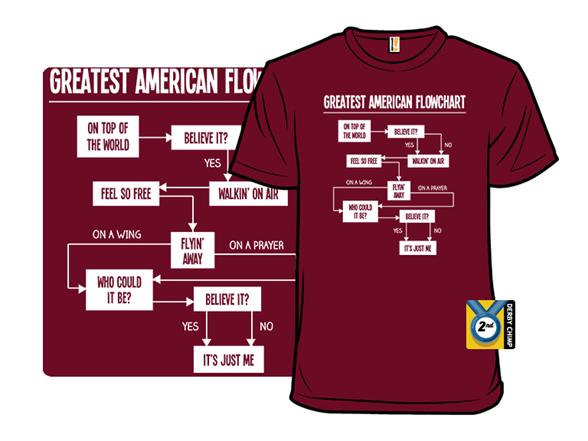 Greatest American Flowchart T Shirt
