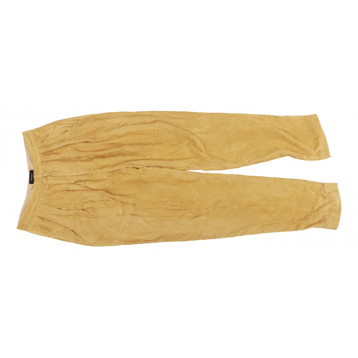 Isabel Marant \N Yellow Trousers for Women 40 FR