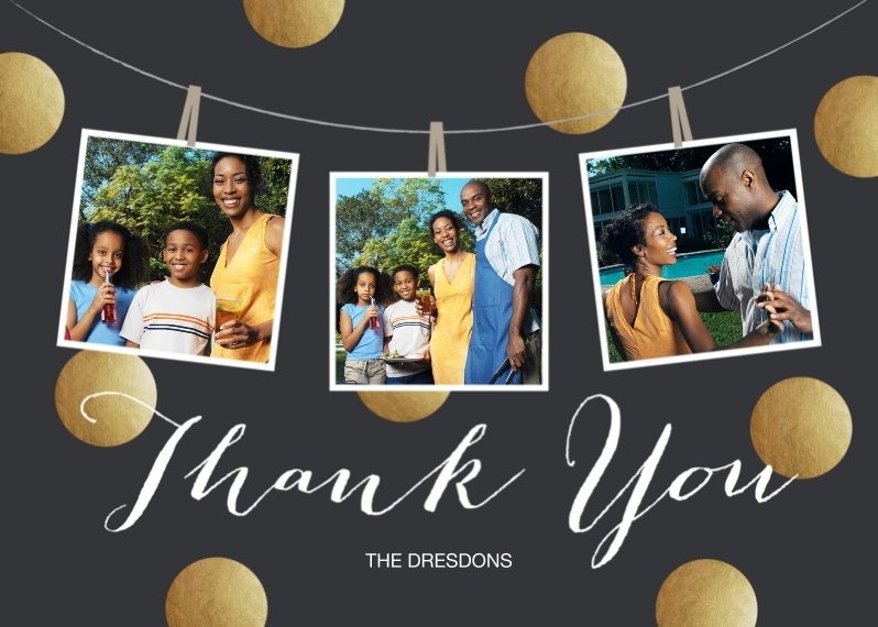 Thank You Cards 5x7 Folded Cards, Standard Cardstock 85lb, Card & Stationery -Thank You Dots