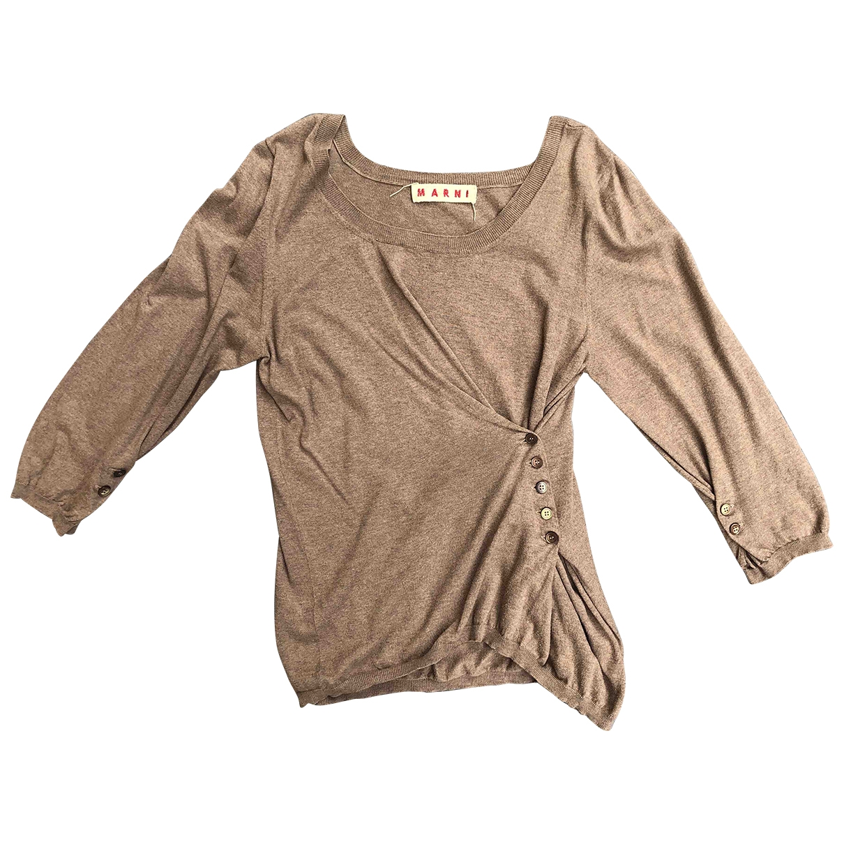 Marni \N Camel Cotton Knitwear for Women 44 IT