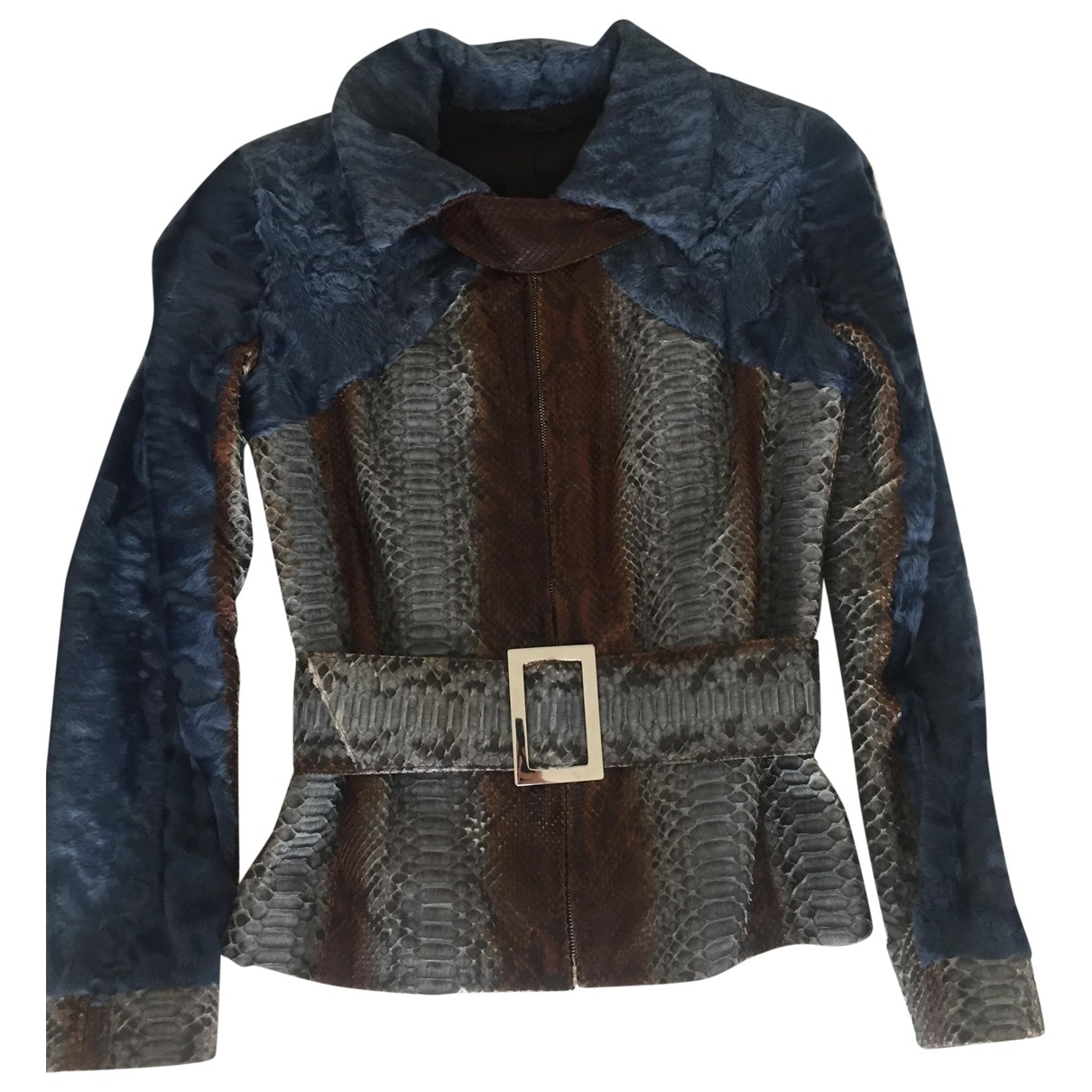 Paolo Moretti \N Blue Python coat for Women 42 IT