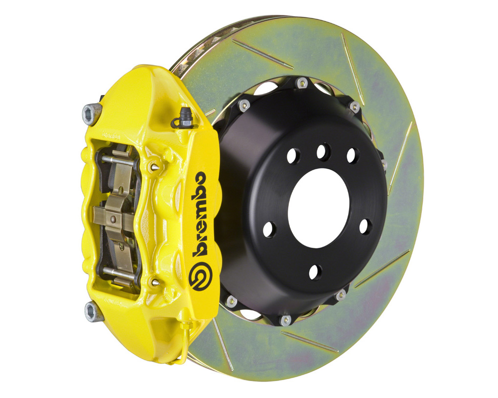 Brembo GT 380x28 2-Piece 4 Piston Yellow Slotted Rear Big Brake Kit