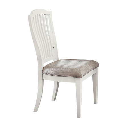 Rockport 2-Piece Dining Chair, One Size , White