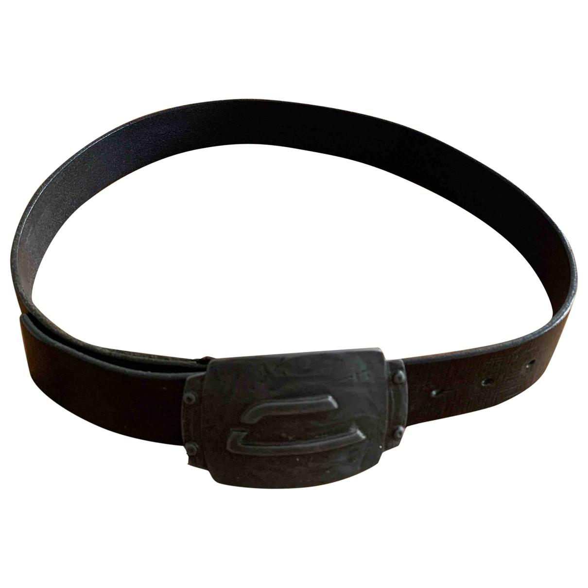 Diesel \N Black Leather belt for Men 85 cm