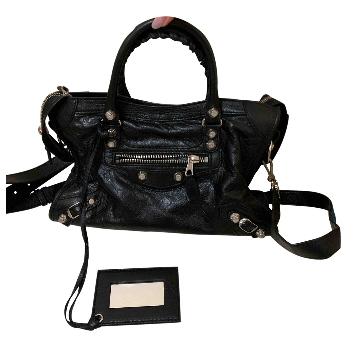 Balenciaga City Black Leather handbag for Women \N