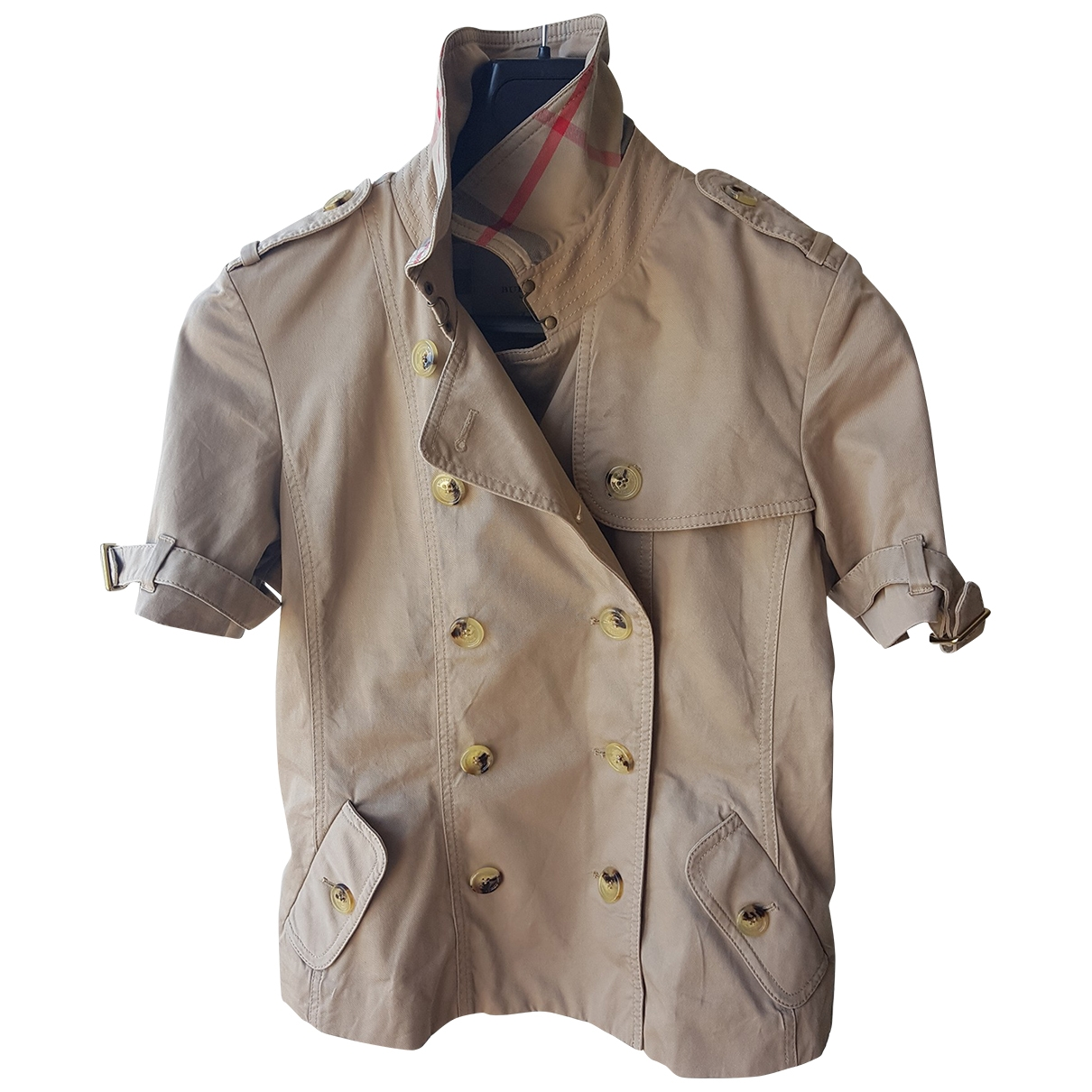 Burberry \N Beige Cotton jacket for Women 10 UK