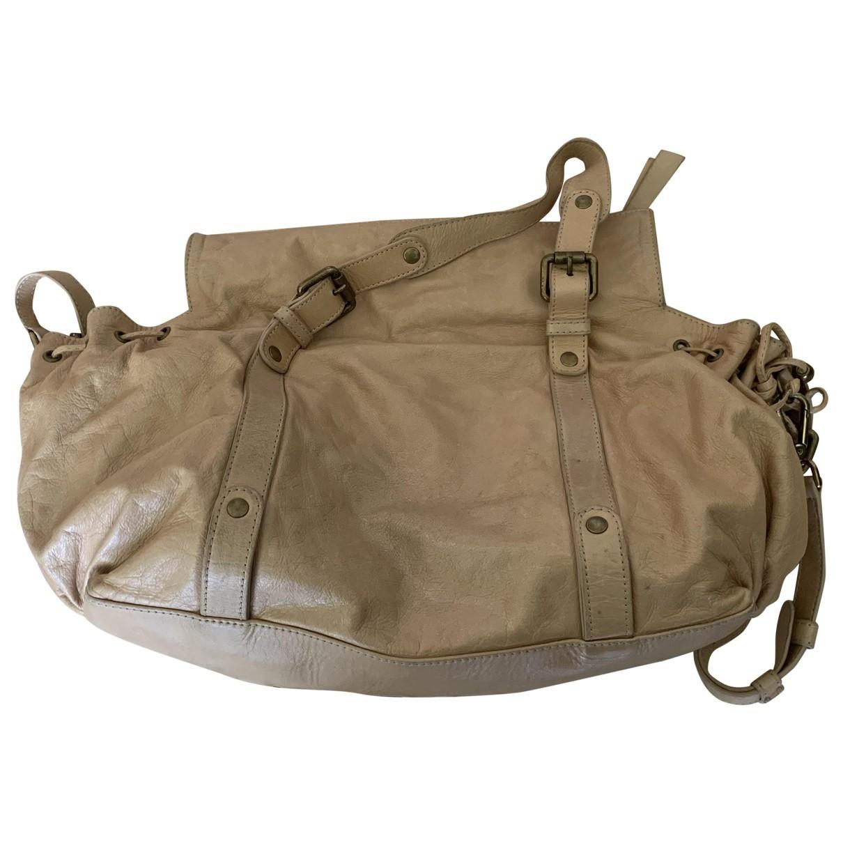 Gerard Darel 24h Gold Leather handbag for Women \N