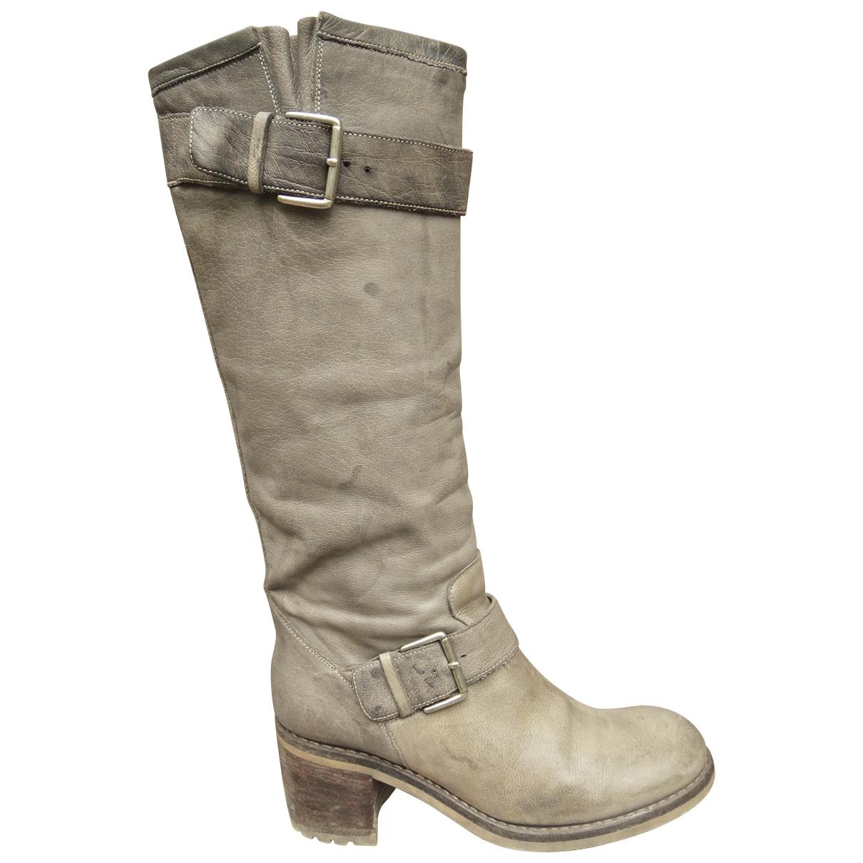 Free Lance - Bottes   pour femme en cuir - gris