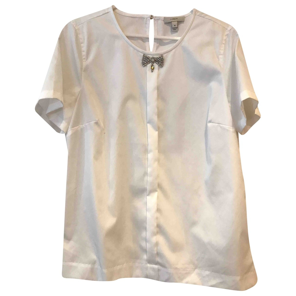 J.crew \N White Cotton  top for Women 10 US