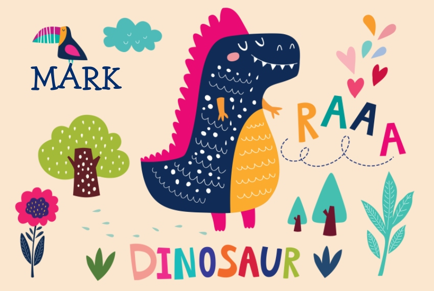 Placemat Placemat, Gift -Dino