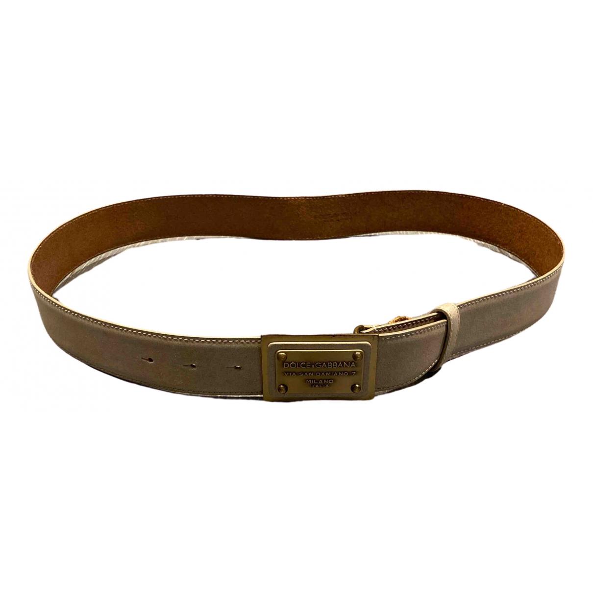 Dolce & Gabbana \N Beige Leather belt for Men 100 cm