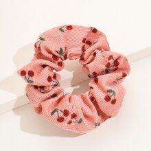 1pc Cherry Print Scrunchie