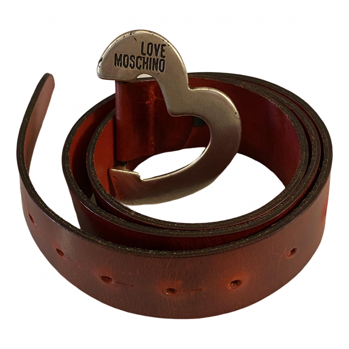 Moschino Love \N Red Leather belt for Women 95 cm
