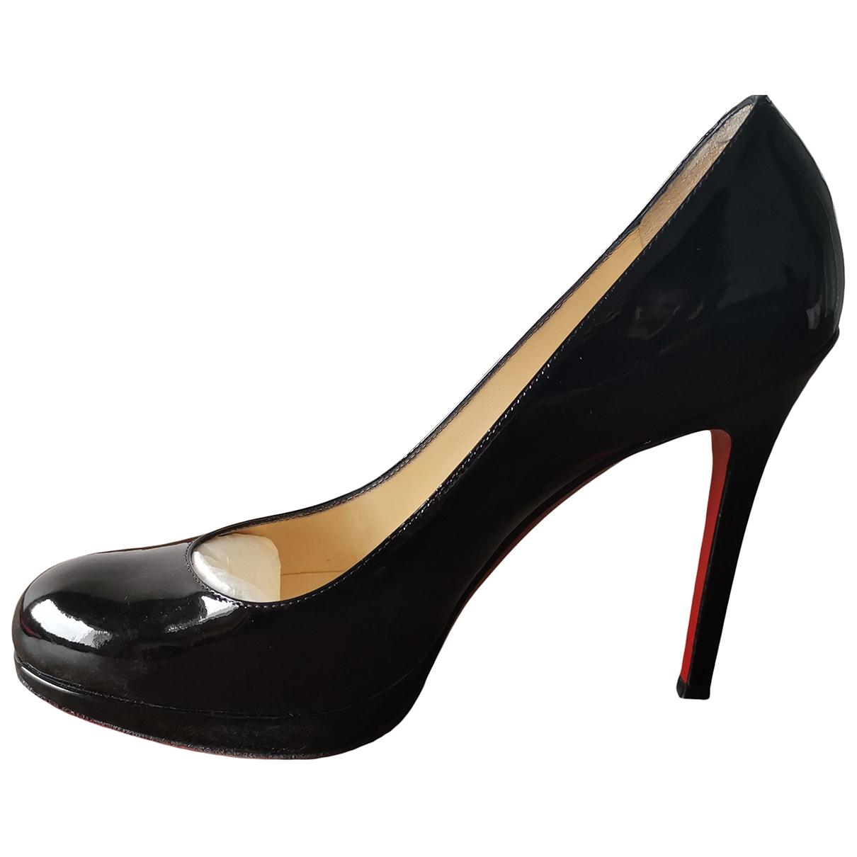 Christian Louboutin Fifi  Black Patent leather Heels for Women 37.5 EU