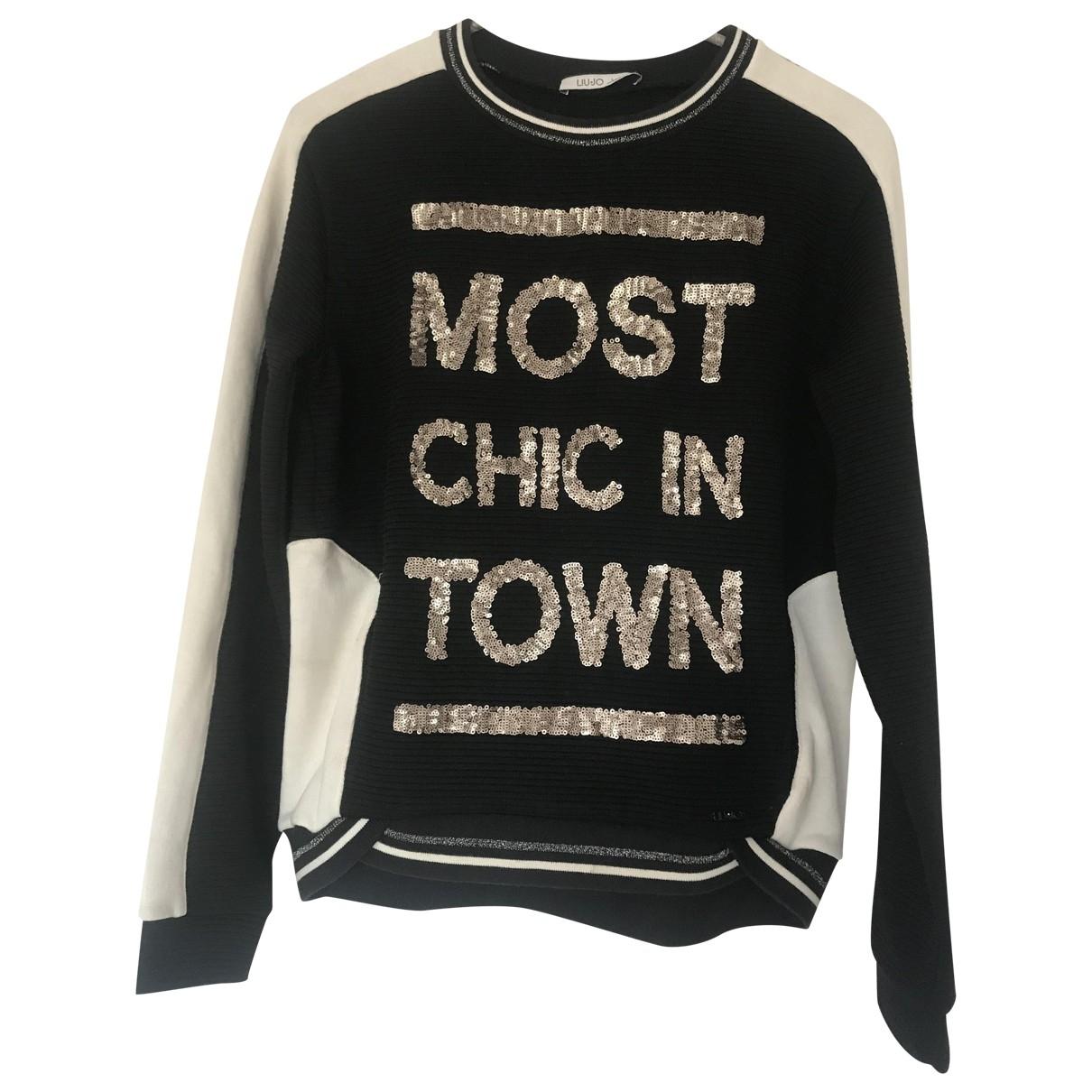 Liu.jo \N Black Cotton Knitwear for Kids 12 years - XS FR