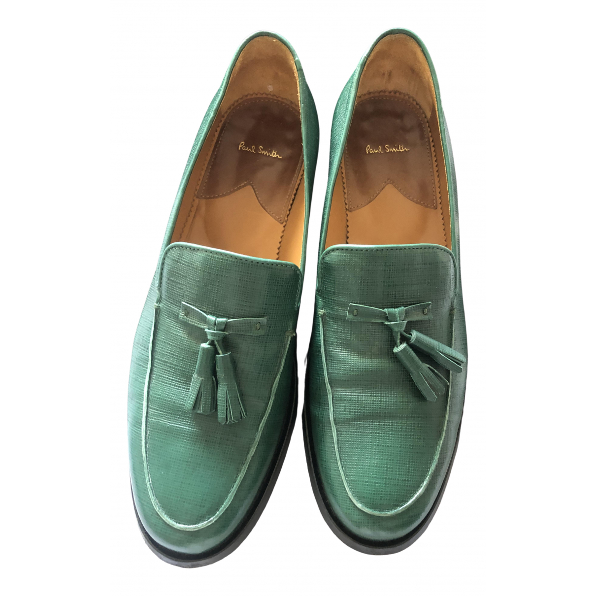 Paul Smith \N Green Leather Flats for Women 39 EU