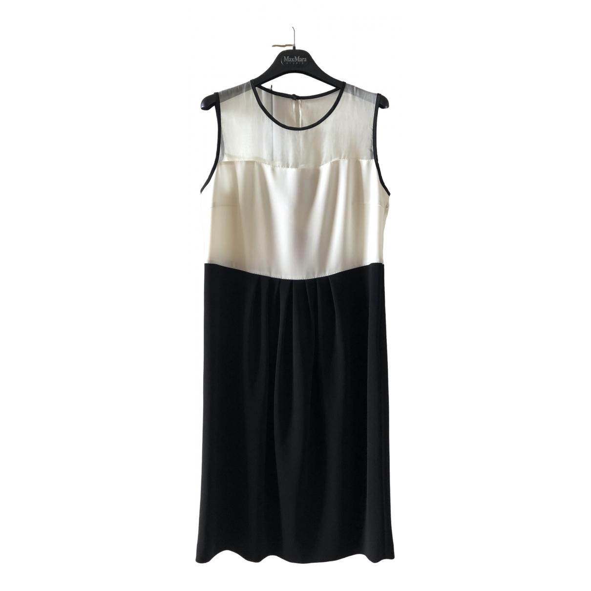Max Mara Studio \N White Silk dress for Women 46 IT