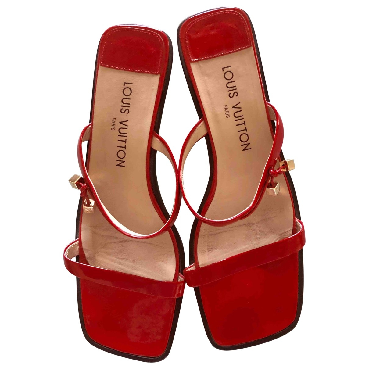 Louis Vuitton \N Red Patent leather Sandals for Women 38.5 EU