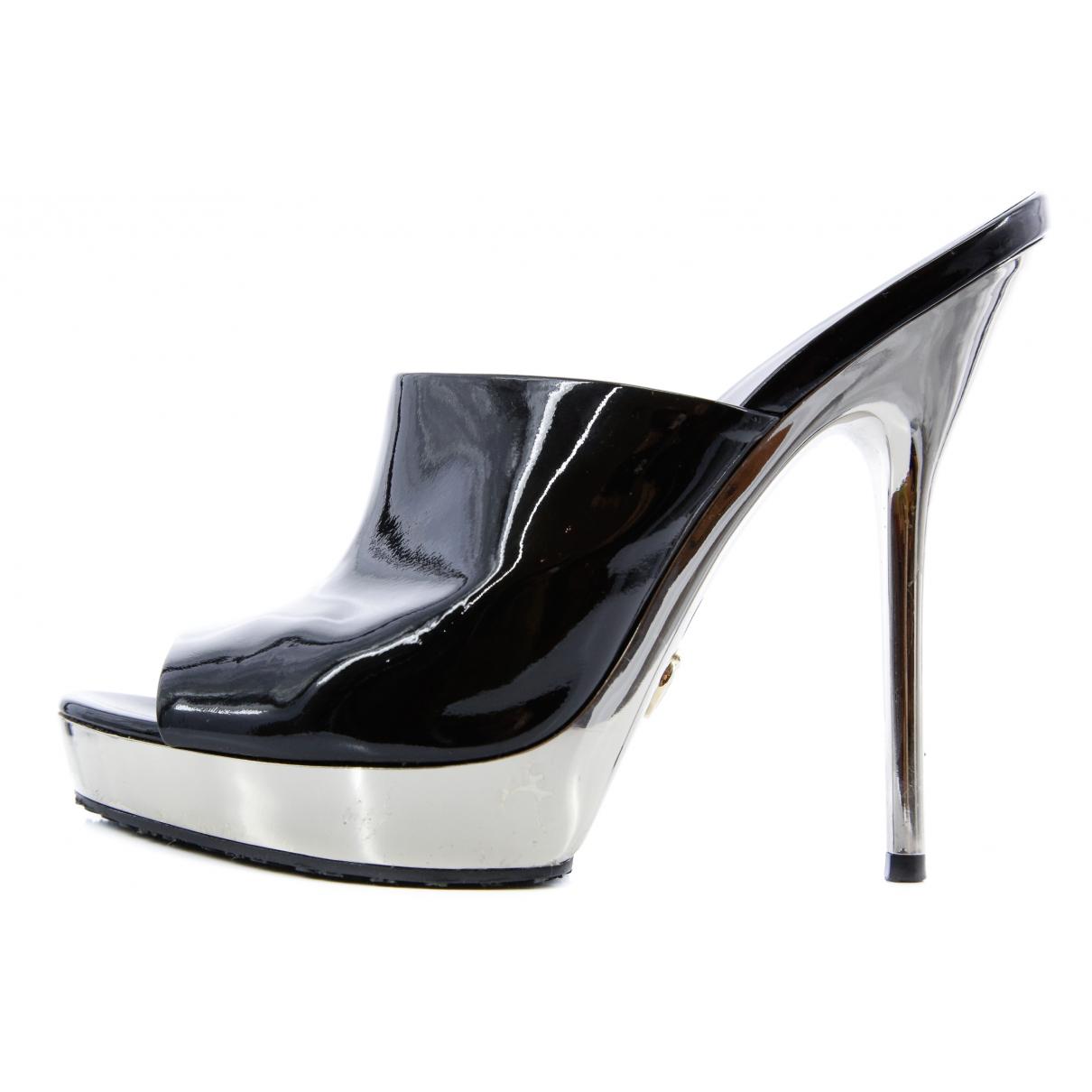 Gucci \N Black Patent leather Mules & Clogs for Women 37 EU