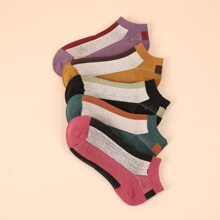 5pairs Color Block Socks