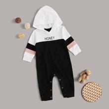 Baby Boy Color-block Letter Graphic Jumpsuit