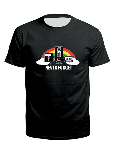 Milanoo Men\'s Black T-shirts Crew Neck Short Sleeves Clothing