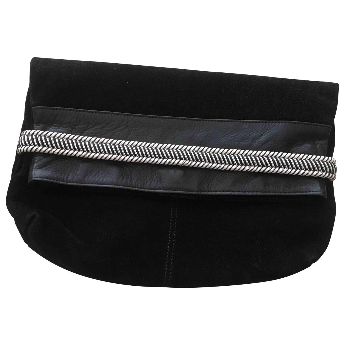 Claudie Pierlot \N Black Leather Clutch bag for Women \N