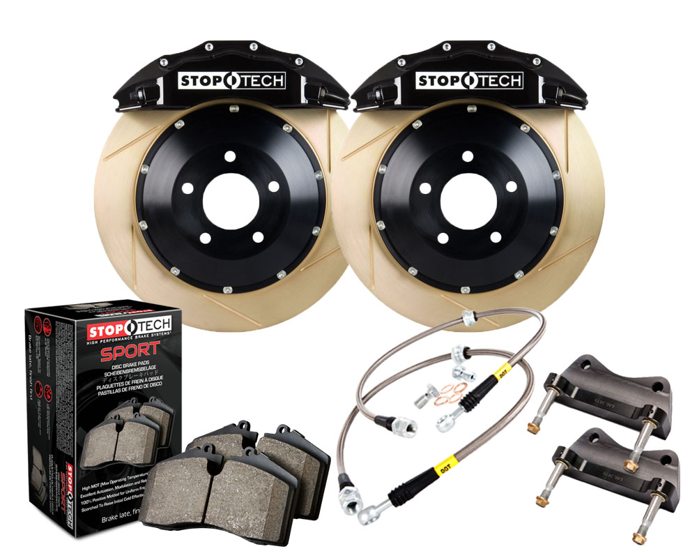 StopTech 83.186.6700.53 Big Brake Kit; Blue Caliper; Drilled Two-Piece Zinc Coated Rotor; Front Front