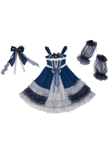 Milanoo Classic Lolita JSK Dress Starry Night Lolita Jumper Skirts