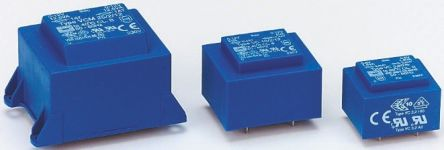 Block 15V ac 1 Output Through Hole PCB Transformer, 25VA