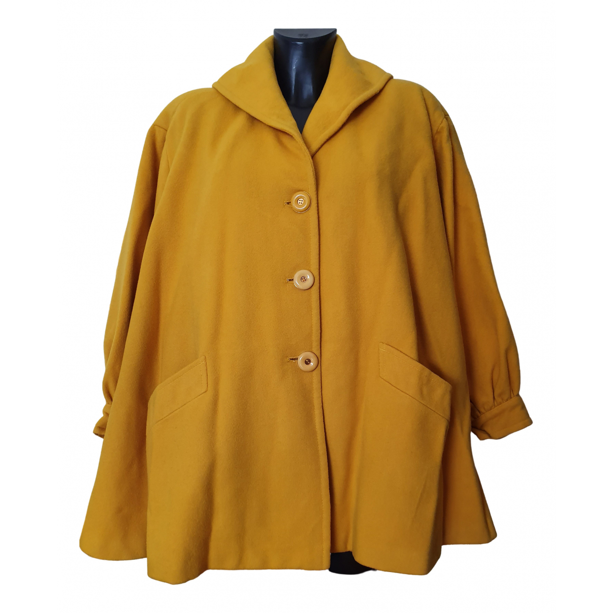 Non Signé / Unsigned \N Yellow Wool coat for Women 42 IT
