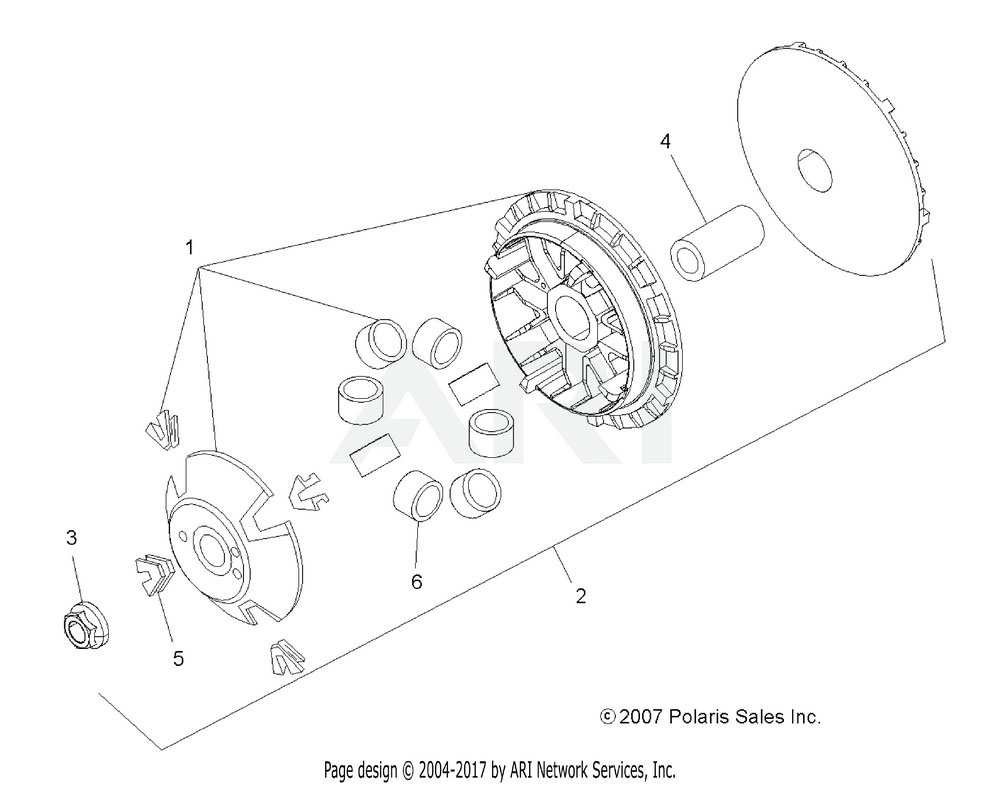 Polaris OEM 5412987 Roller Set, 12 Grams, Red | [High Elev.]