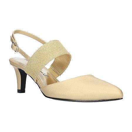 Easy Street Womens Gisella Pumps Spike Heel, 9 1/2 Medium, Yellow