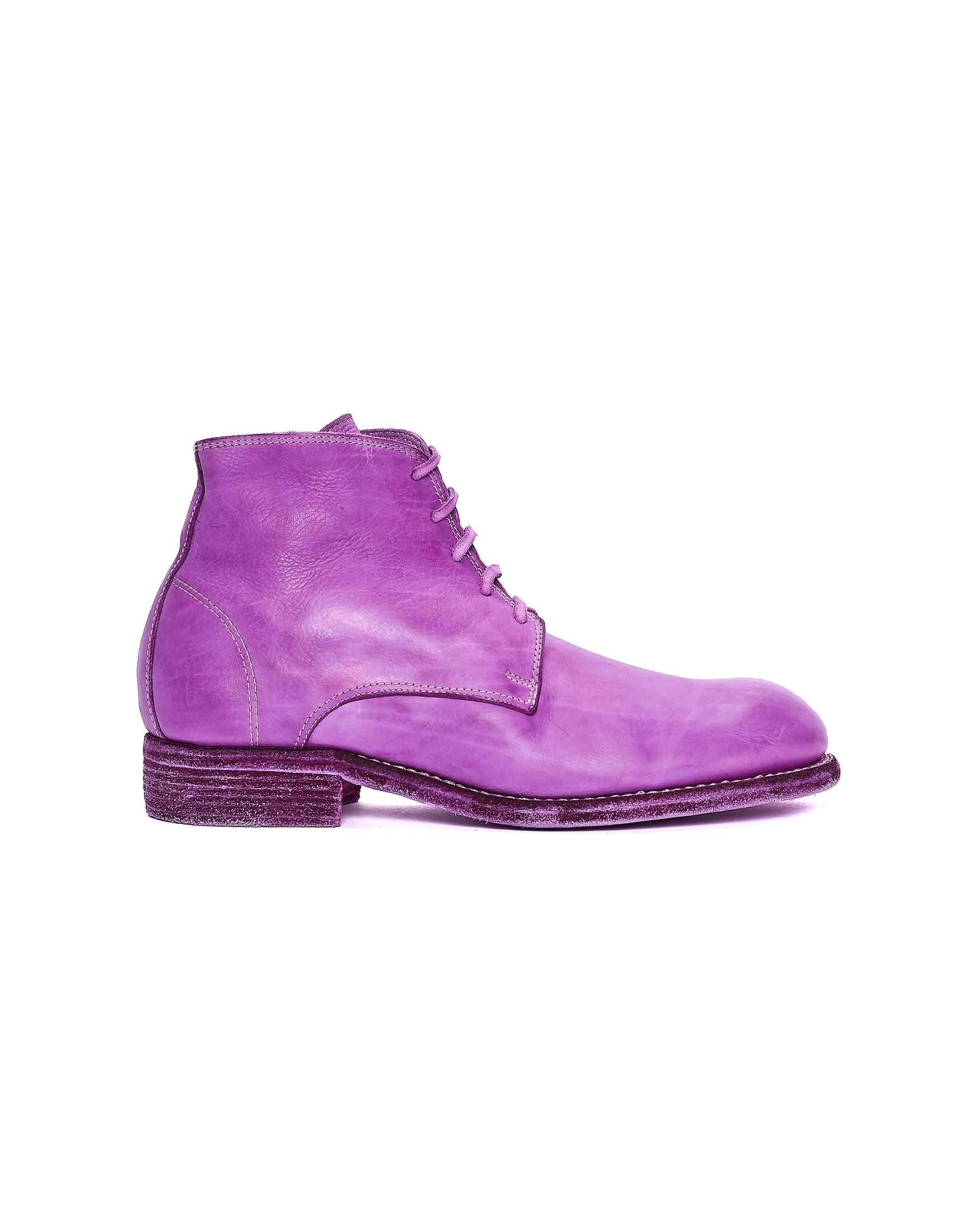 Guidi Purple Leather Boots