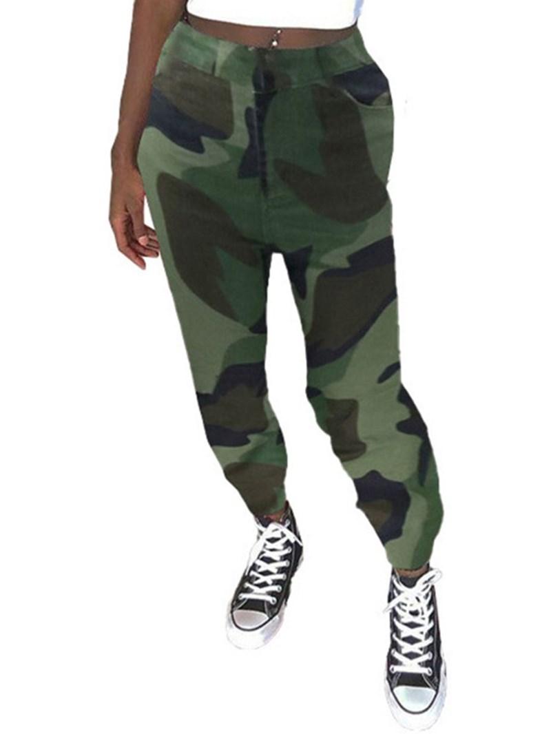 Ericdress Skinny Color Block Full Length Pencil Pants Casual Pants