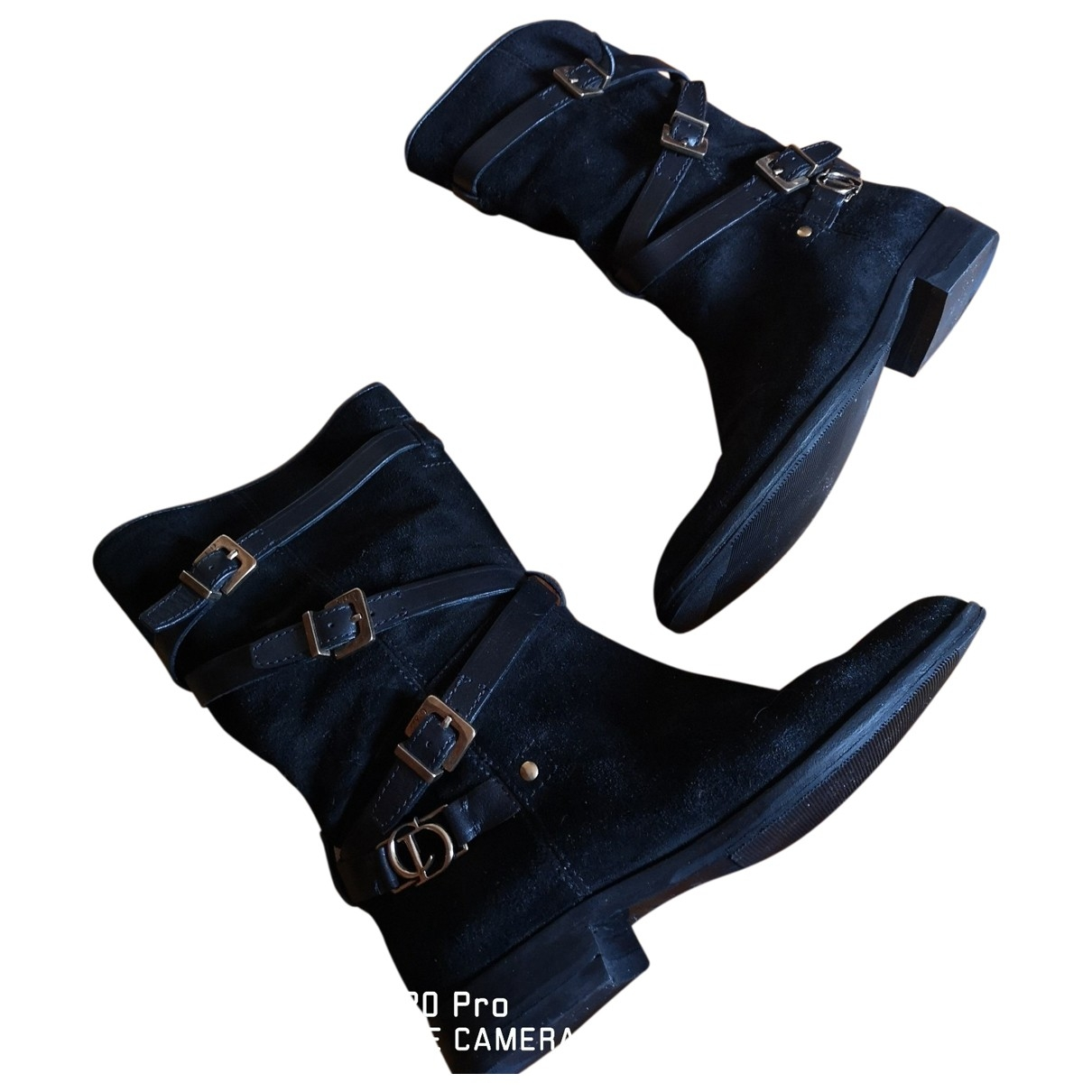 Dior \N Black Suede Boots for Women 38.5 EU