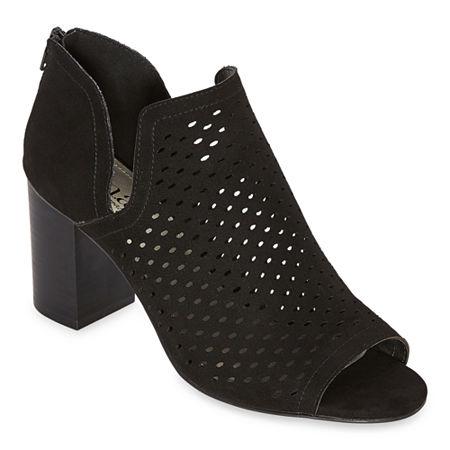 a.n.a Womens Twilight Booties Block Heel, 9 1/2 Medium, Black