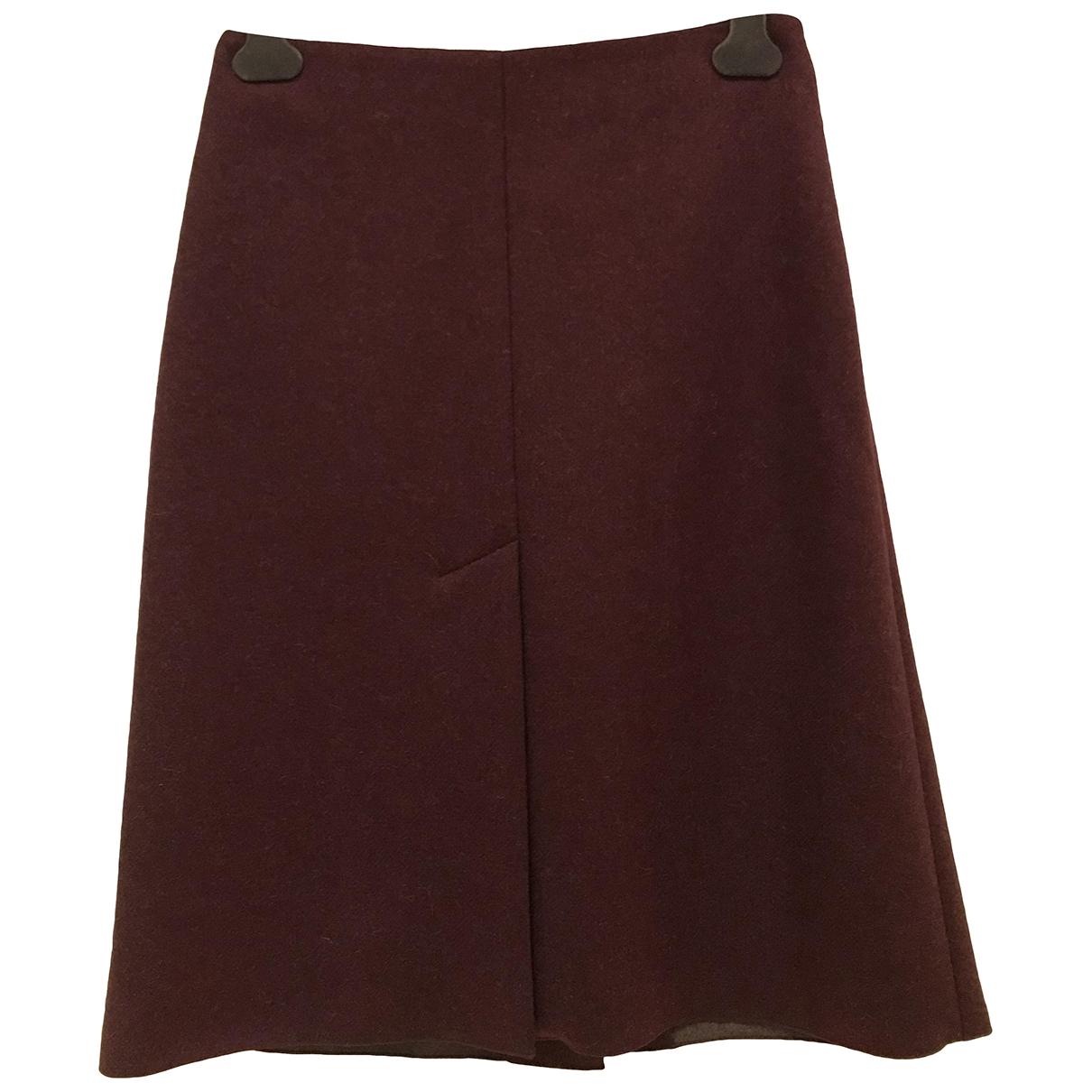 Maison Martin Margiela \N Burgundy Wool skirt for Women 40 IT