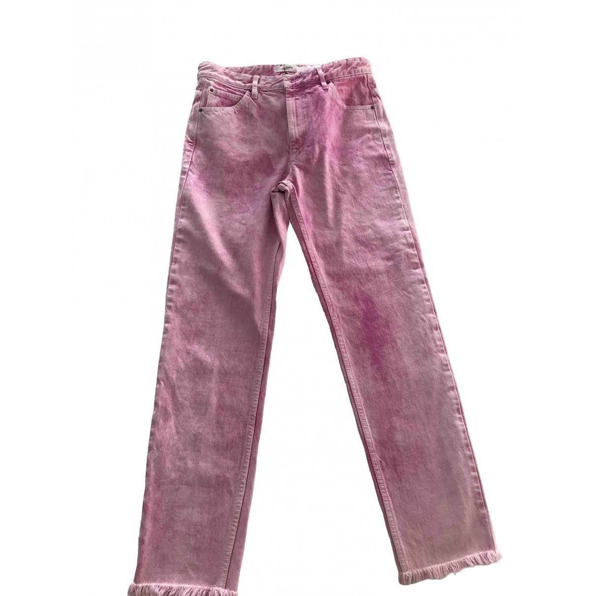Isabel Marant Etoile \N Pink Cotton Jeans for Women 38 FR