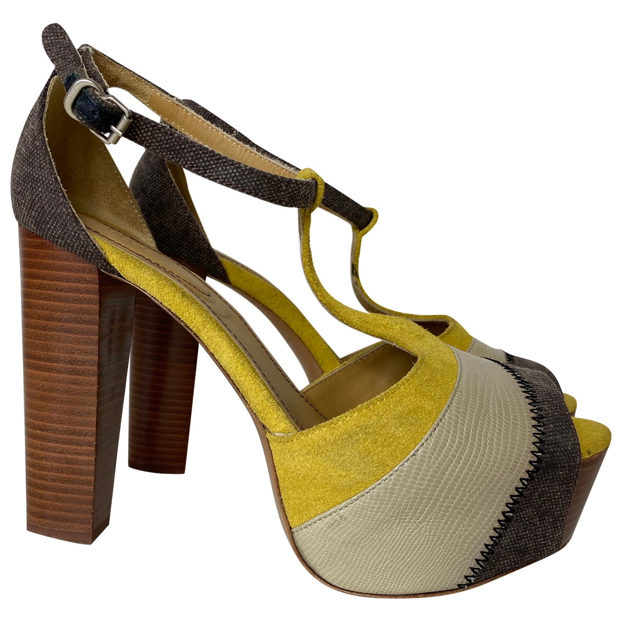See By Chloé \N Khaki Cloth Sandals for Women 38 IT