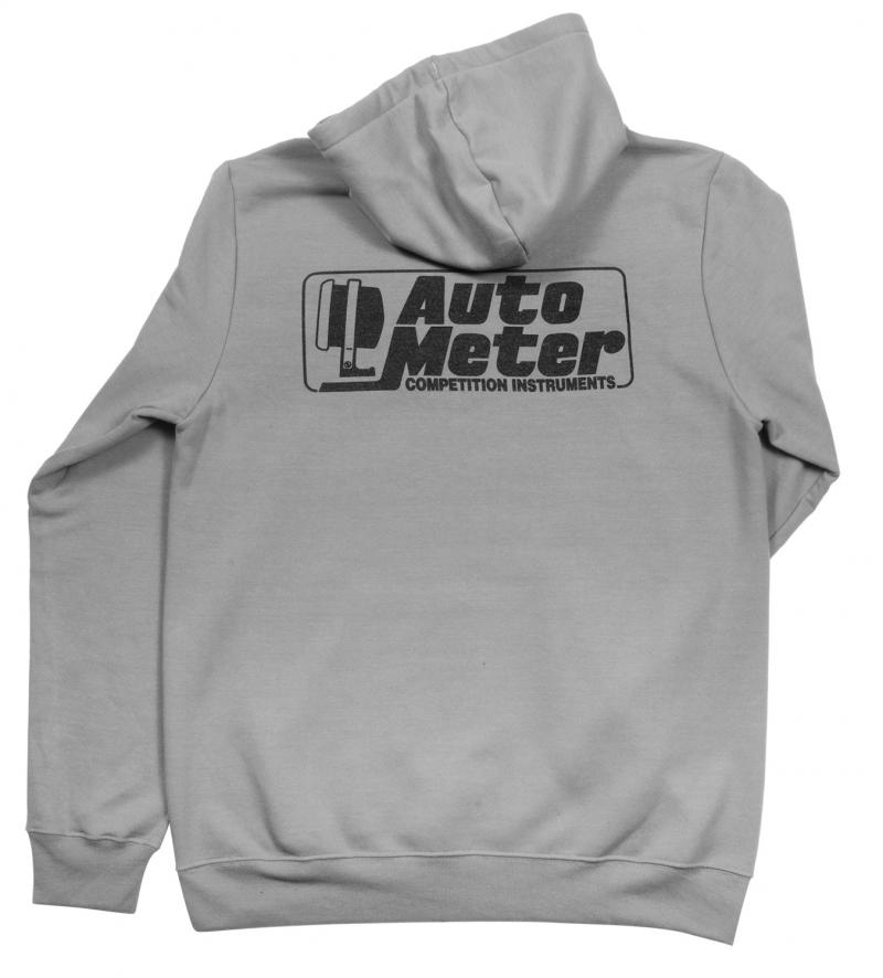 AutoMeter PULLOVER HOODIE; ADULT MEDIUM; GRAY; COMPETITION