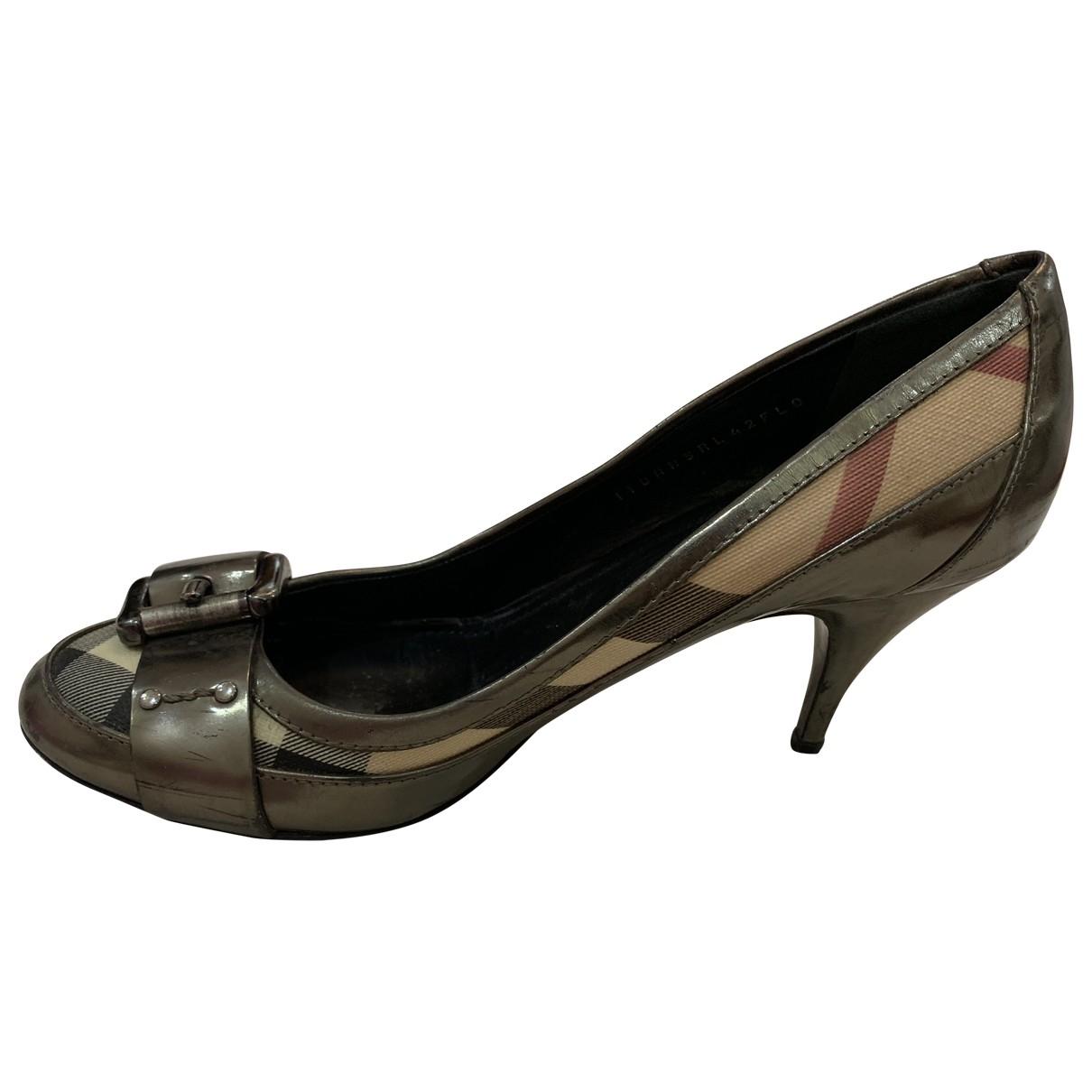 Burberry \N Metallic Cloth Heels for Women 38 EU