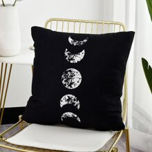 Moon Print Cushion Cover Without Filler
