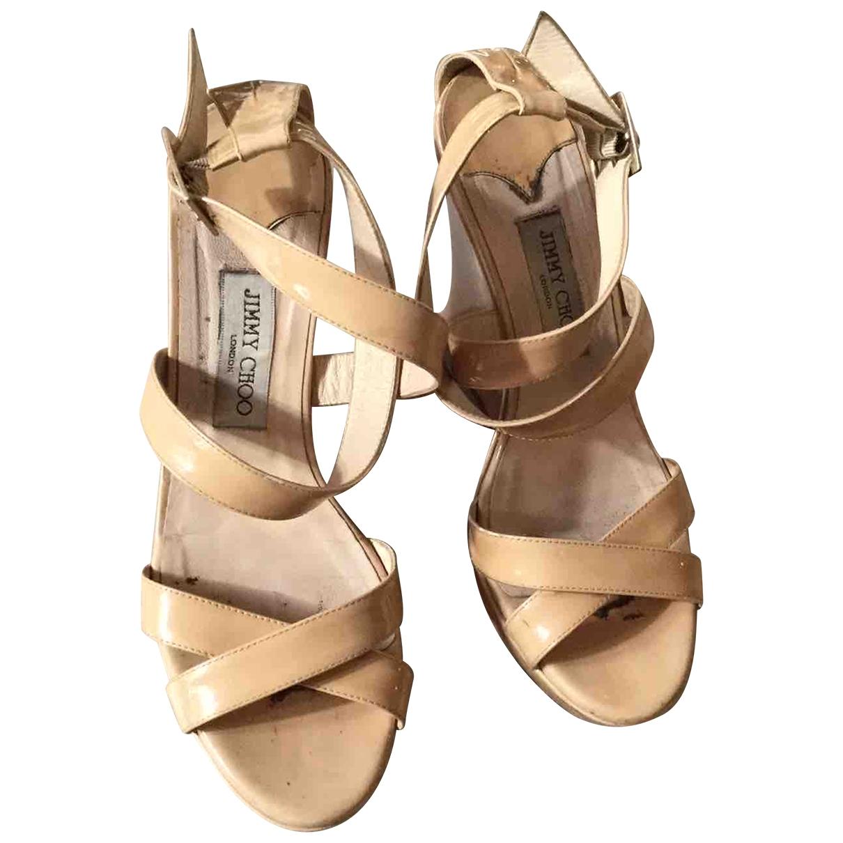 Jimmy Choo \N Beige Leather Sandals for Women 40 EU