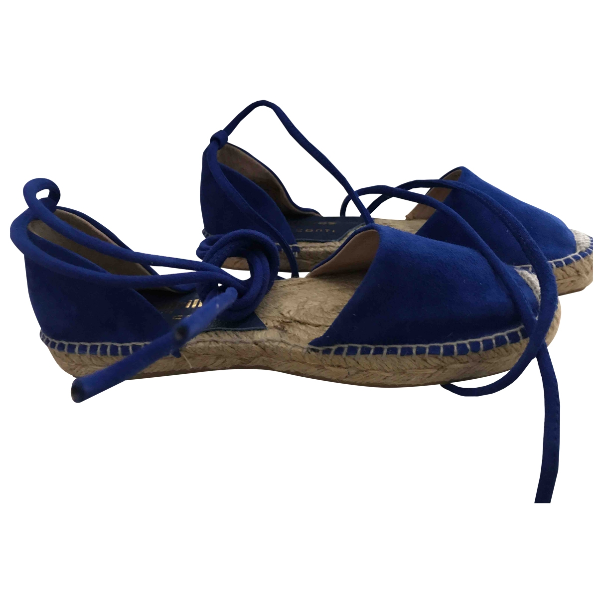 Liviana Conti \N Blue Suede Espadrilles for Women 36 EU