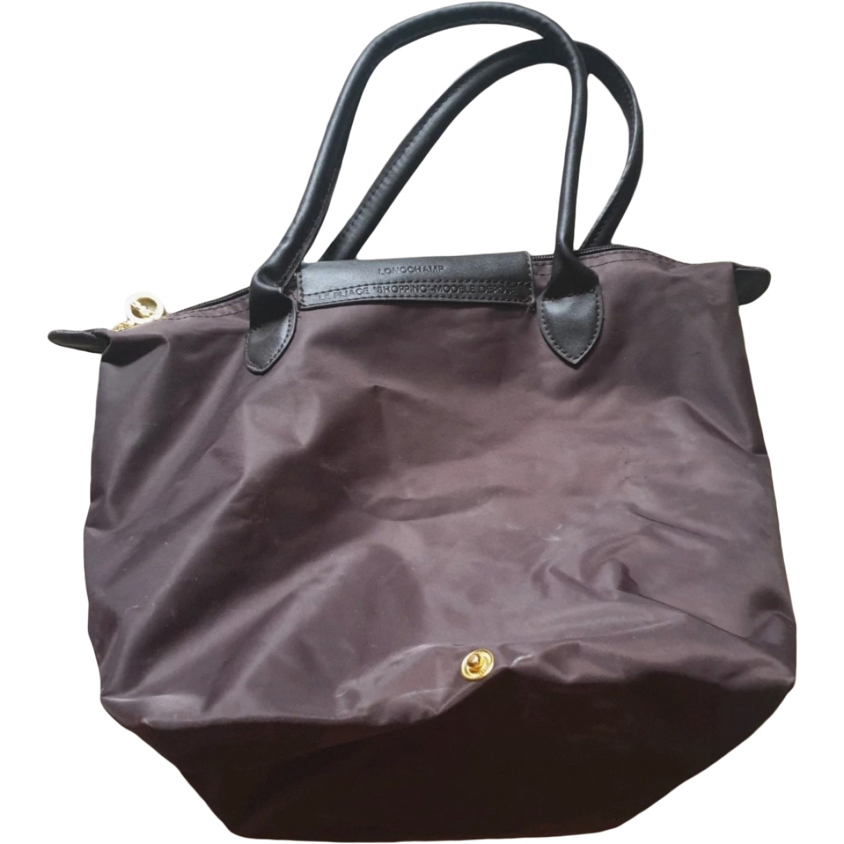 Longchamp Pliage  Brown handbag for Women \N