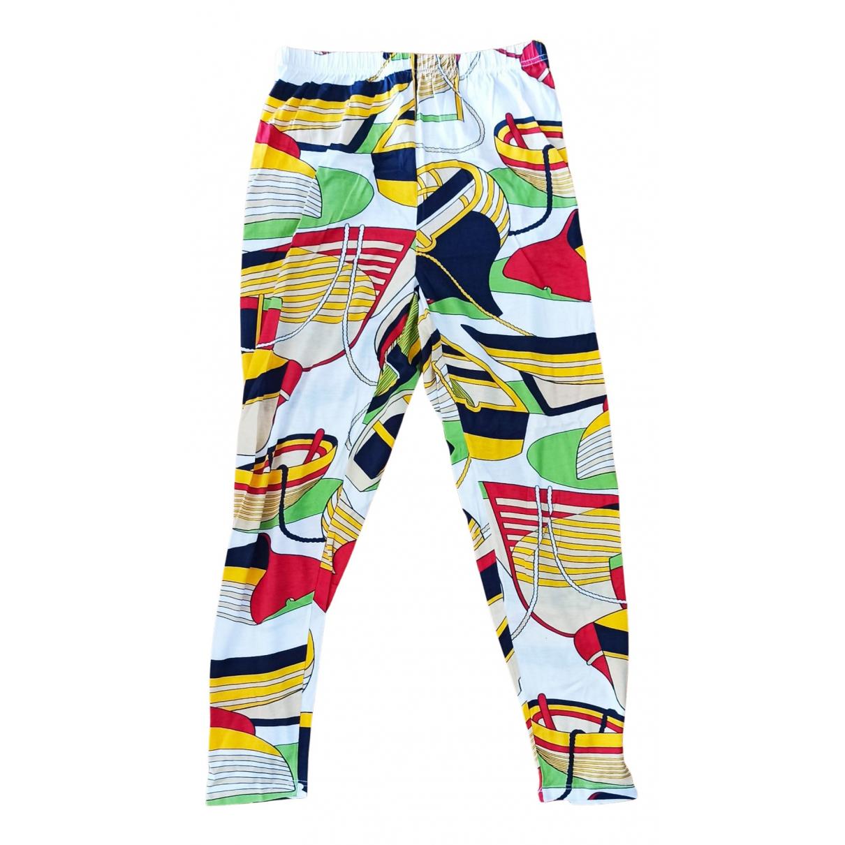 Hermès \N Multicolour Cotton Trousers for Women S International