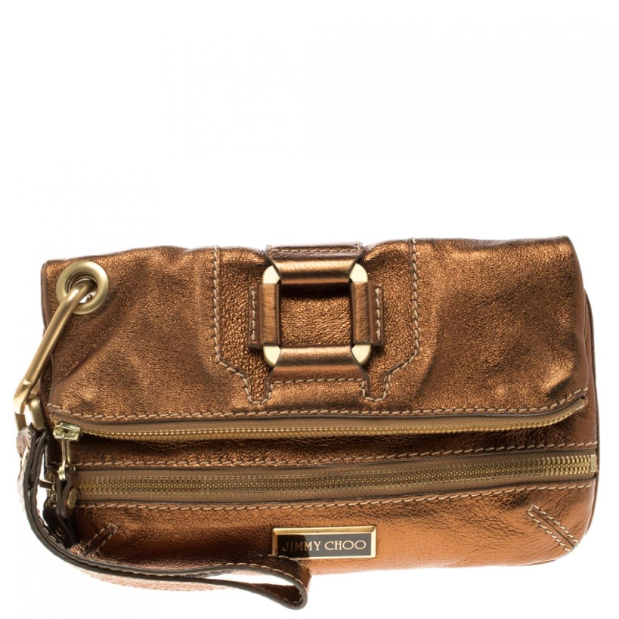 Jimmy Choo \N Metallic Leather Clutch bag for Women \N