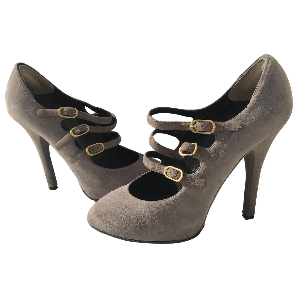 Dolce & Gabbana \N Grey Suede Heels for Women 37 EU