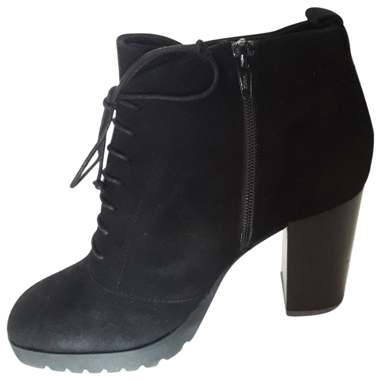 Sandro \N Black Suede Ankle boots for Women 39 EU
